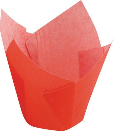 Papilotka tulipan czerwony – 5x8 cm