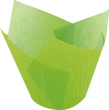 Papilotka tulipan zielony – 5x8 cm