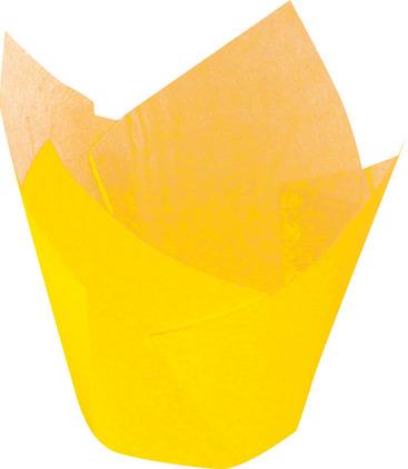 Papilotka tulipan żółty – 5x8 cm