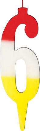 Świeczka tęczowa cyferka 6