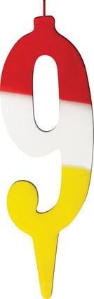 Świeczka tęczowa cyferka 9