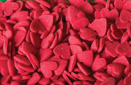 Konfetti cukrowe – serca – 200 g